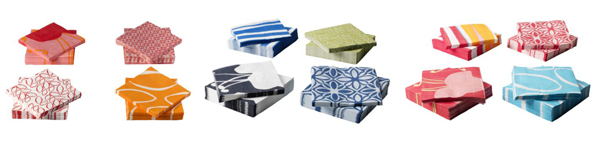 Solig napkins in assorted colors, 50 pack $1.99