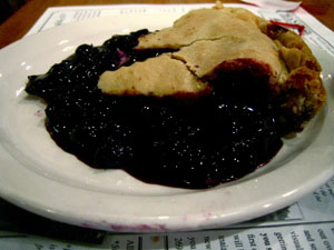 Cranes Blueberry Pie