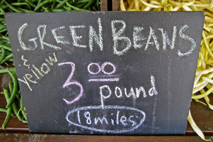 Green and Yellow Beans, 18 miles