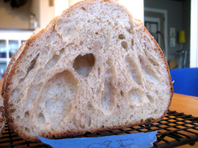 Holes, evenly distributed, voluminous: bread!