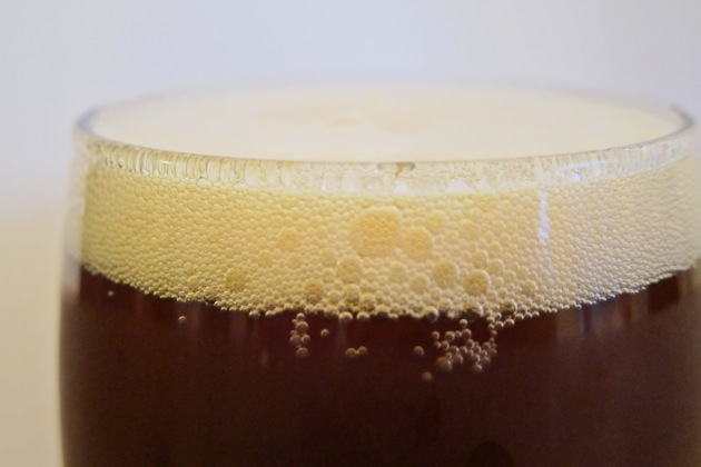 a freshly poured glass of beer