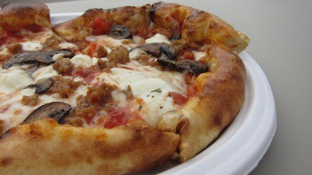 Wood-Fired Italian Sausage and Mushroom Pizza