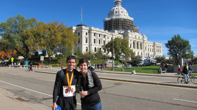 at the capitol after the marathon