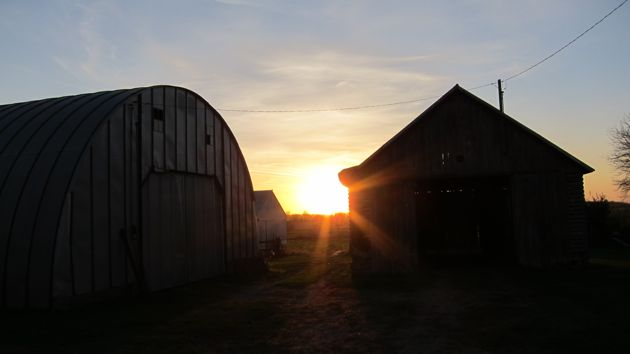 Sunset at the Machine Shed
