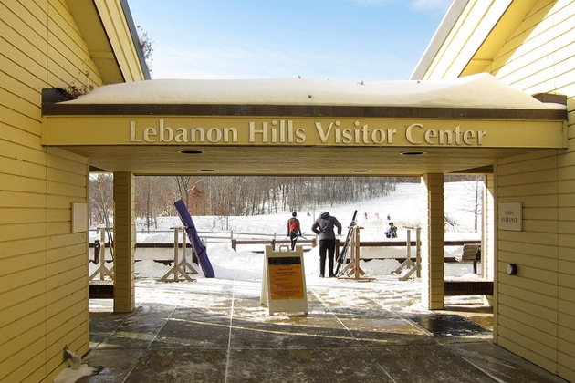 Lebanon Hills Visitor Center in winter