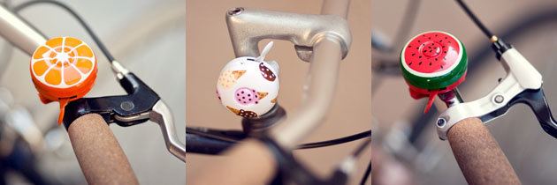 poketo food-themed bike bells