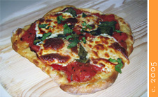 one of Tom's first attempts at making homemade italian-style pizza