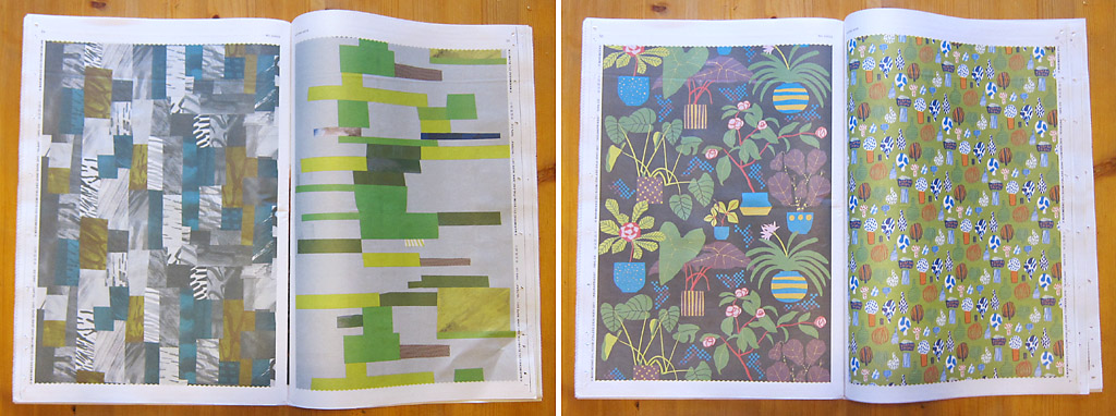 pages from the Marimekko fall catalogue/newspaper, printed on newsprint