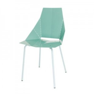 Blu Dot chair in blue