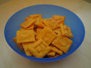 Bowl of CHEEZ-ITs