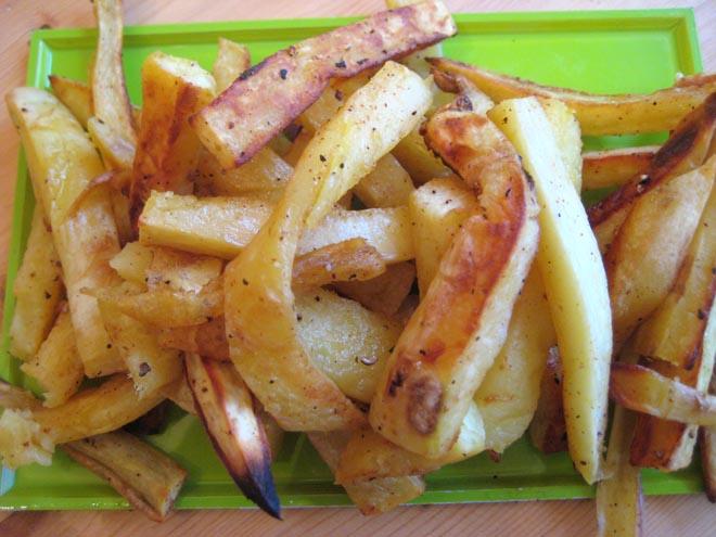 Hand cut yam fries
