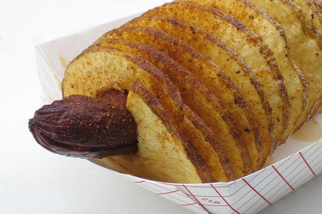 Sausage and Potato Spiral