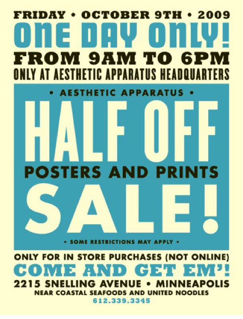 Half Off Sale!