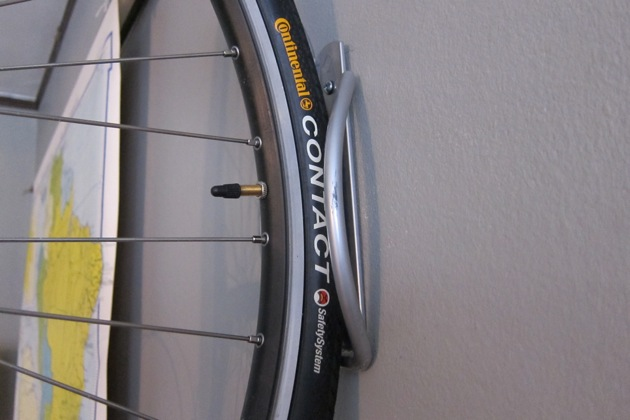 a close up image of the bike rack