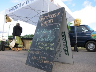a chalk board stand at Gardens of Eagan