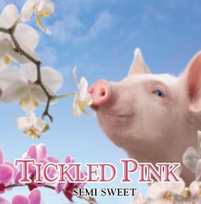 tickled pink wine label