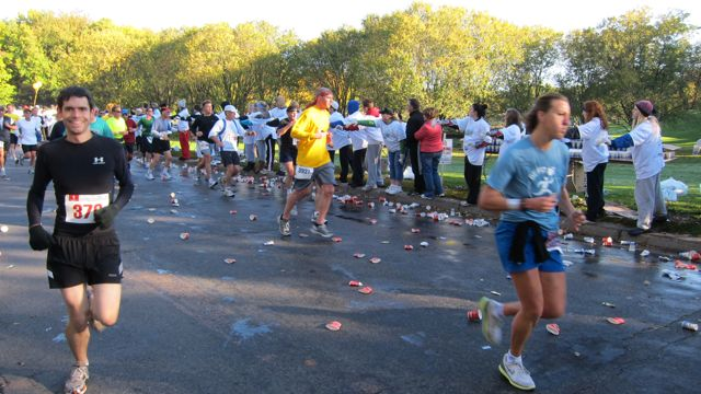 Marathon Runners on a fall day