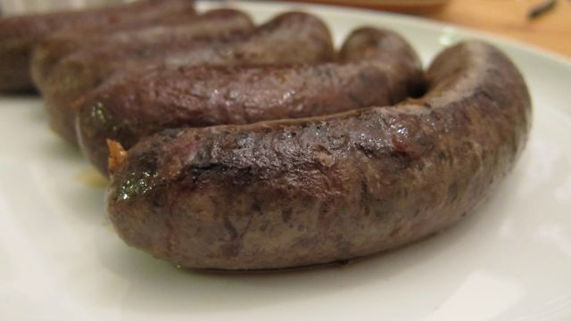 homemade sausages on a plate