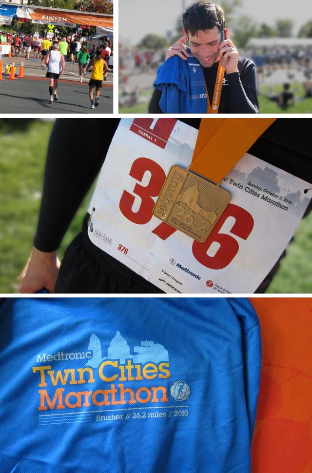 the marathon finish line