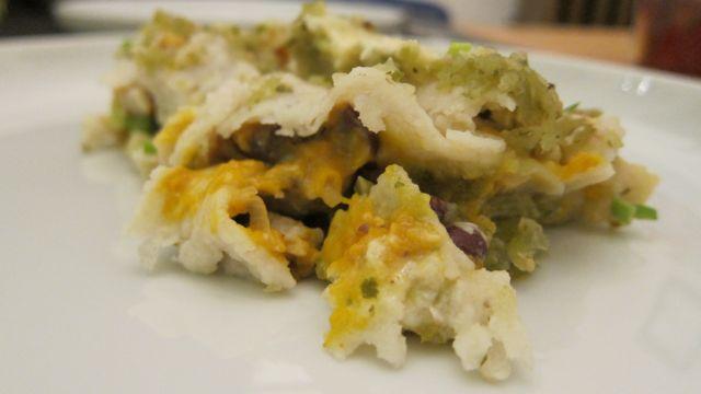 squash enchiladas on a plate