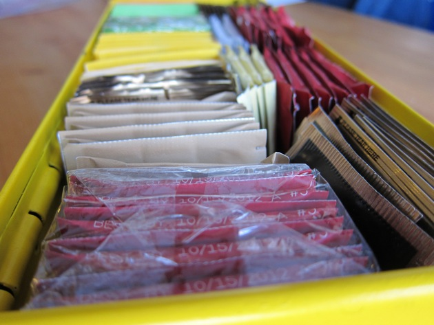 packets of tea in a yellow box