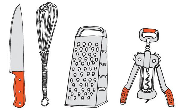 kitchen utensil temporary tattoos
