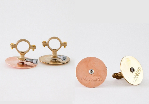 Danish bicycle bells, front and back