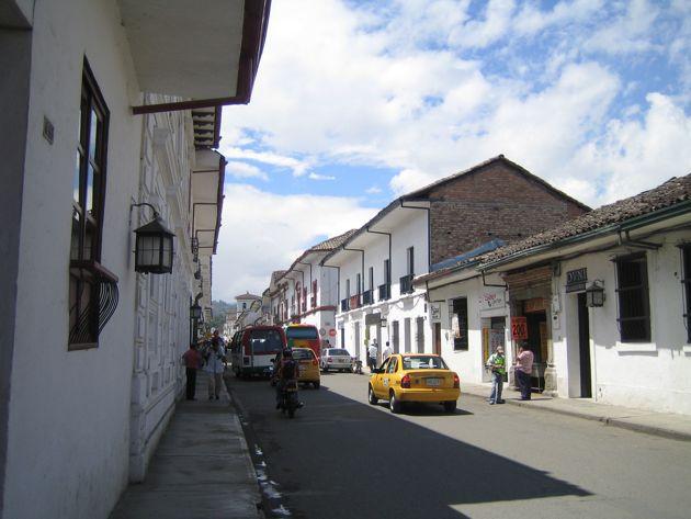 a street in Popayán, Colombia