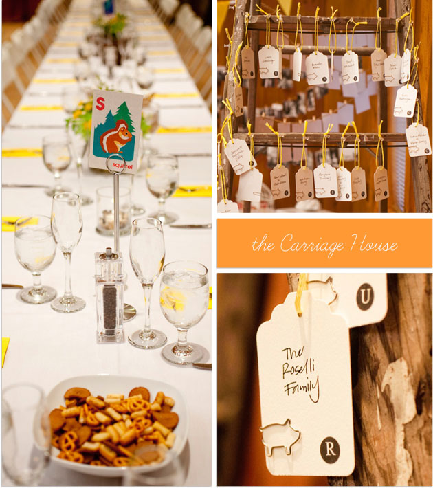 wedding details inside the Carriage House