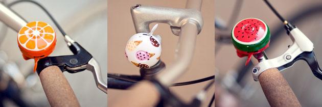 poketo food-themed bike bells