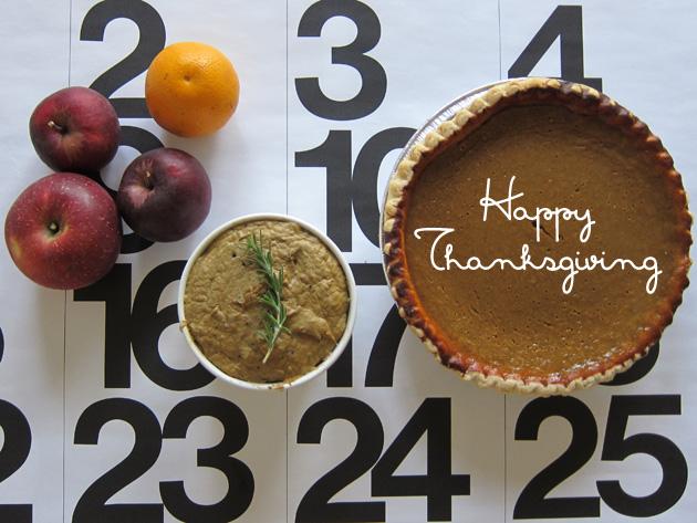 Pâté and Pumpkin Pie for Thanksgiving