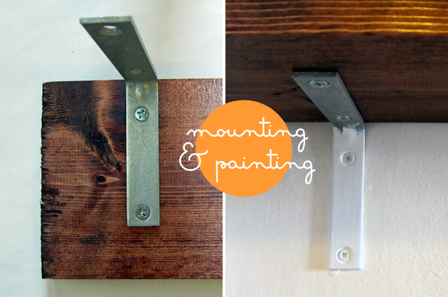 mounting and painting l-bracket shelves