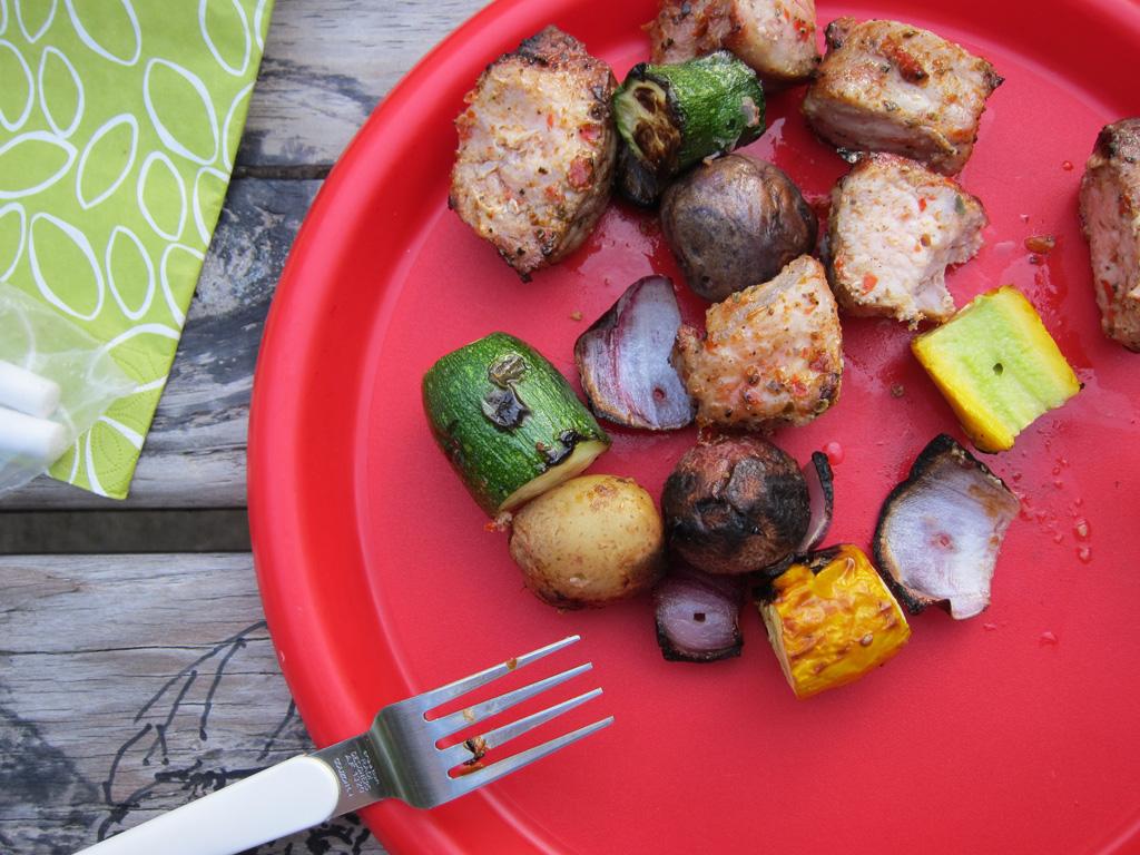 a July picnic dinner